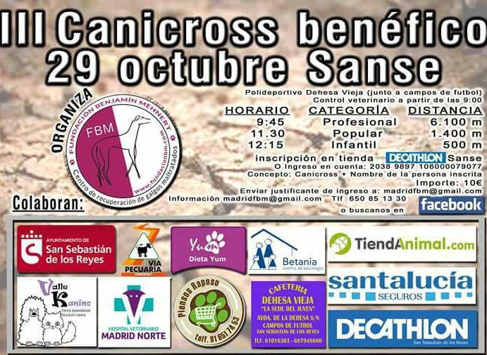 III Canicross solidario en San Sebastián de los Reyes