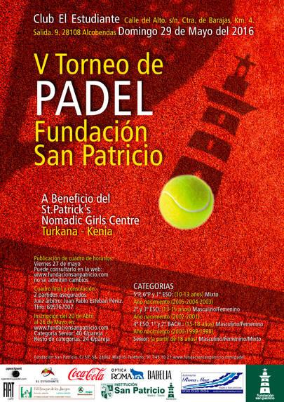 V Torneo de pádel Fundación San Patricio