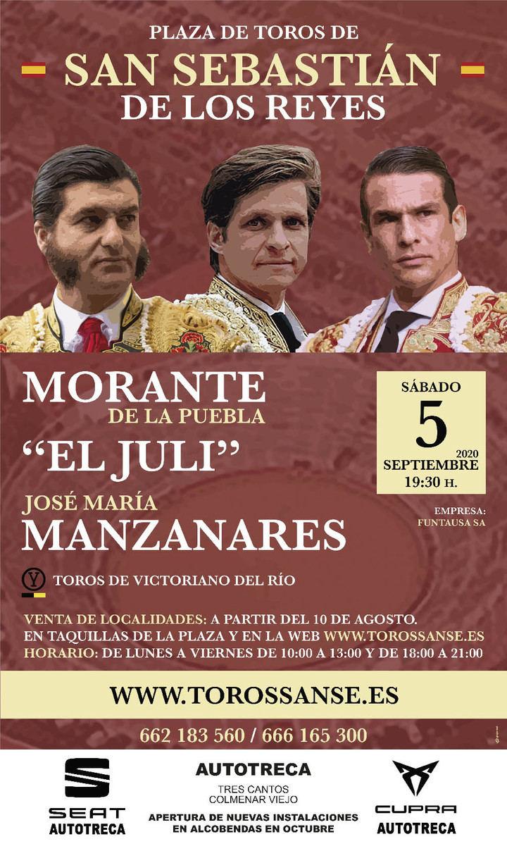 Morante, Manzanares y El Juli en San Sebastián de los Reyes