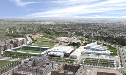 Imagen aérea de la ciudad deportiva de Valdelasfuentes