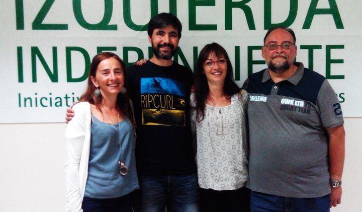 En la imagen ven a los cuatro concejales que en 2015 consiguieron acta de concejal por Izquierda Independiente. De Izquierda a derecha, Myriam Pérez Melia, Rúben Holguera, Belén Ochoa y Miguel Ángel Fernández
