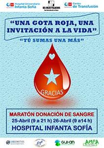 Nuevo Maratón de donación de Sangre en el Hospital Infanta Sofía