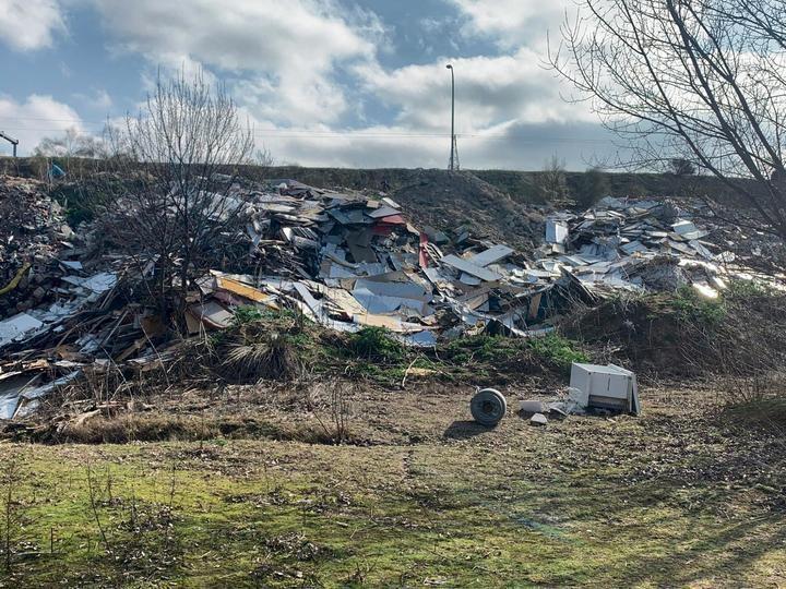 Recogida de basura en la zona de la Hípica de la Moraleja & Pony Club