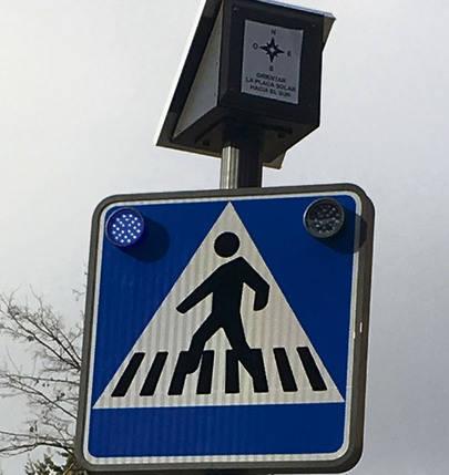 Refuerzo de seguridad en los pasos de peatones del Soto