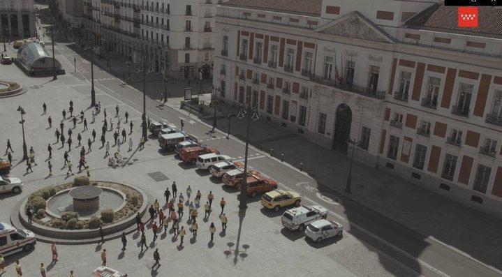 Madrid homenajea a los héroes por COVID-19: