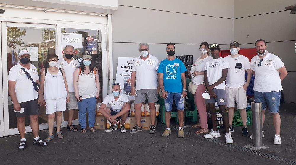 La 'Furgo Solidaria' de Sanse alcanza las 60 entregas de alimentos en 60 días