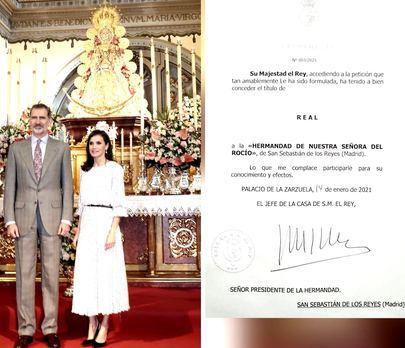 Felipe VI concede el título de 'Real' a la Hermandad de Nuestra Señora del Rocío de Sanse