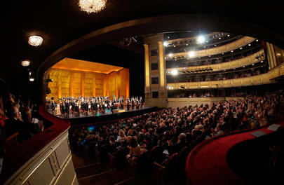 Imagen del Teatro Real durante una de las funciones celebradas esta temporada