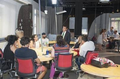 Imagen del espacio Coworking  Startup Alcobendas donde se han creado 18 empresas y 12 están a punto de hacerlo