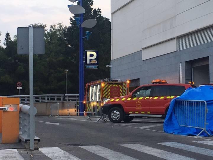 Pequeño incendio en un cuarto de mantenimiento del centro comercial y Ocio Herón Diversia