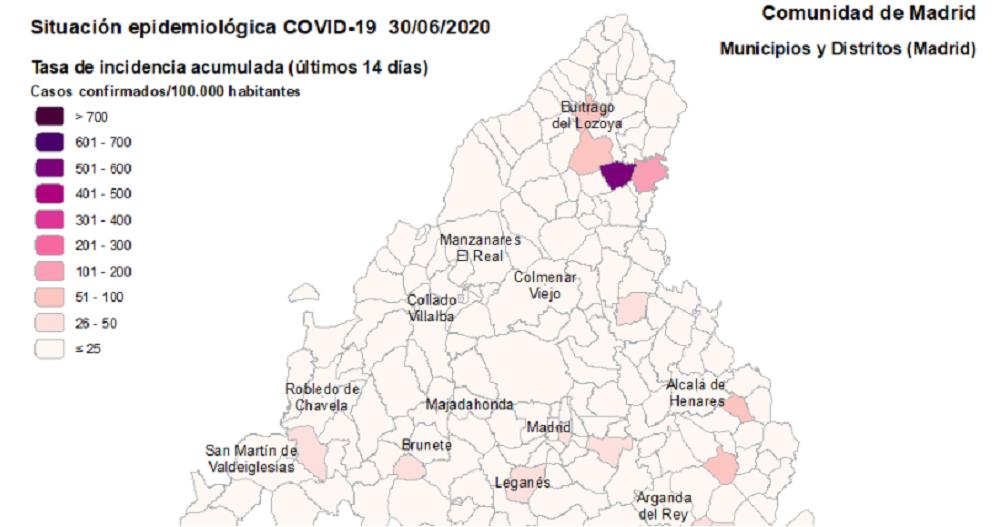 Alcobendas registra cuatro casos nuevos de Covid19 en las últimas 24 horas