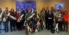 Imagen de los premiados con el Jam�n ganado en el certamen