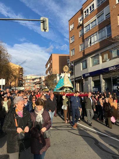 La Virgen de La Paz de Alcobendas vuelve a su casa el domingo 24 de marzo
