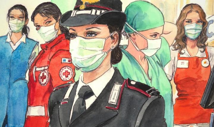 Milo Manara: de mitos eróticos a heroínas del coronavirus