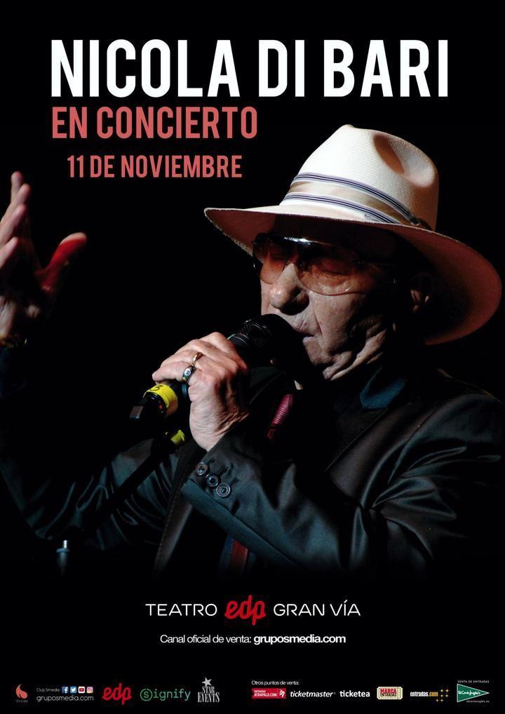 Concierto de Nicola Di Bari en el Teatro EDP Gran Vía de Madrid