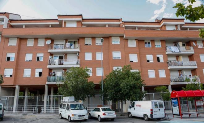 Fachada del inmueble donde están los pisos Okupados