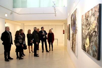 Exposición del pintor jerezano Manuel M. Cabrera en el centro cultural Ánabel Segura