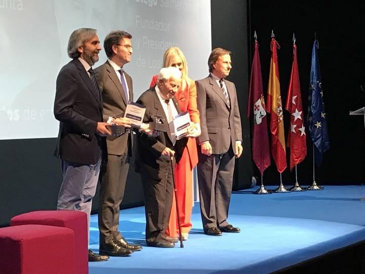 El Partido Popular de Alcobendas reconoce a Alberto Nuñez Feijóo y Diego Salmerón