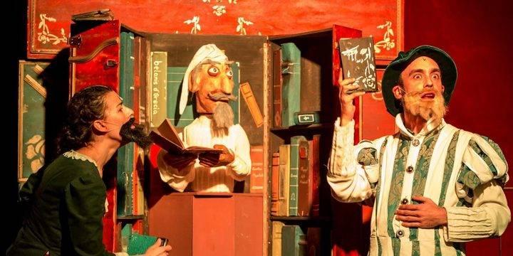 Imagen de una representación del 'Ingenioso Hidalgo', función de producciones Viridiana