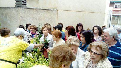Sanse reparte mañana 2.000 plantas en el patio del edificio El Caserón