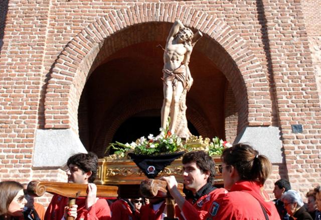 Sanse celebra las fiestas de su Patrón, San Sebastián Martir