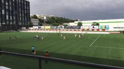 Imagen del duelo de Play Out celebrado entre la UD Sanse y el Levante Atlético