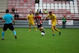 Imagen del partido celebrado en Las Gaunas entre la SD Logroñes y el Alcobendas Sport