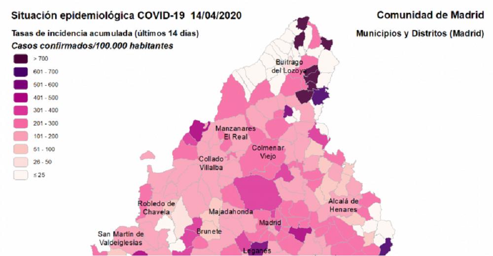 Alcobendas registra 220 casos confirmados de covid19 en los últimos 14 días
