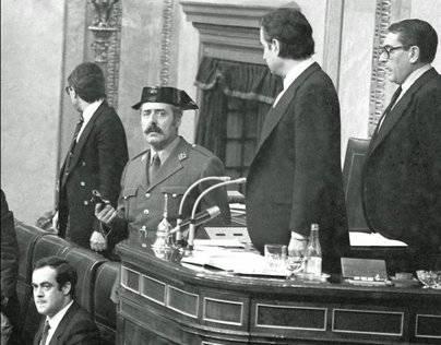Imagen del momento que se dio el golpe de estado el pasado 23 de febrero