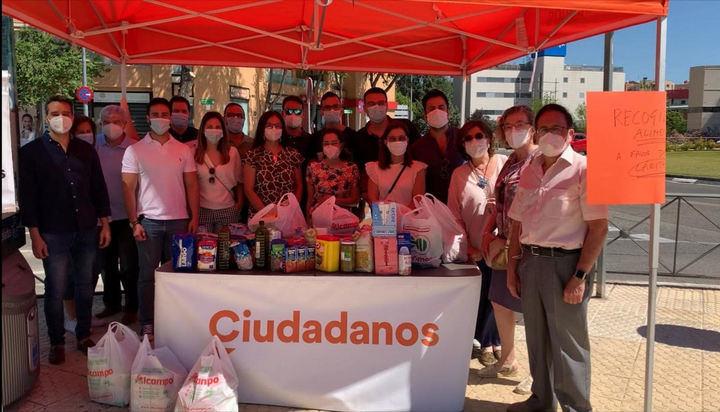 Ciudadanos (Cs) Madrid pone en marcha una recogida de alimentos solidaria en beneficio de Cáritas